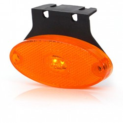 Yellow sidemarker LED oval (inc sideconnection)
